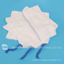 Spondage abdominal haute absorbant médical 100% coton
