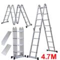 Klappleiter Multifunktions-Aluminiumverlängerung 7-in-1-Schwerlast-Kombinationsleiter 4,7 m