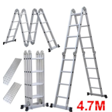 Folding Ladder Multi-function Aluminium Extension 7 in 1 Step Heavy Duty Combination ladder 4.7m