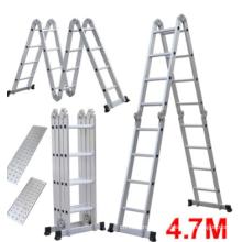 Складная лестница Многофункциональный алюминиевый удлинитель 7 в 1 шаг для тяжелых условий эксплуатации 4,7 м