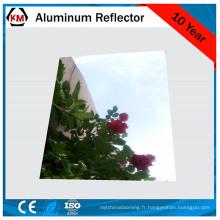 plaque réfléchissante en aluminium anodisé
