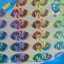 A melhor etiqueta de holograma de qualidade Etiqueta / papelaria etiqueta de etiqueta de holograma de segurança / etiqueta de papelaria personalizada