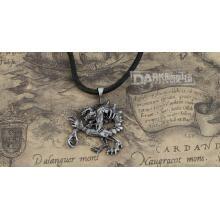 Liga de metal cor de prata cor de couro masculino moda colar gótico moda.