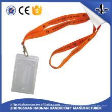 Cordón de la tarjeta de identificación directamente de la fábrica de poliéster con clip