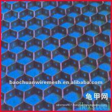 High-temperature-resistant plastic hexagon grid