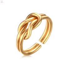 Творчество Простых Нержавеющей Стали Золото Любовь Узел Кольцо