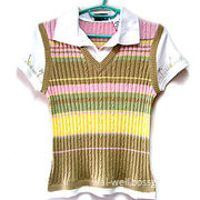 Women's Knitted Sweater, Made of 55% Ramie and 45% Cotton