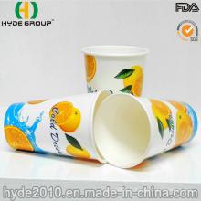Tasse jetable de papier de boisson froide de 12oz avec le logo imprimé (12oz)