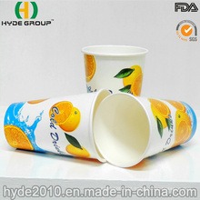 Copo de papel da bebida 12oz descartável fria com logotipo impresso (12oz)