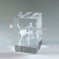 2015 Cube 3D Laser Engraved Crystal Gifts For Dancer Favors Souvenirs