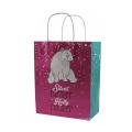 Custom logo printed tote shopping plain twist handle paper bag