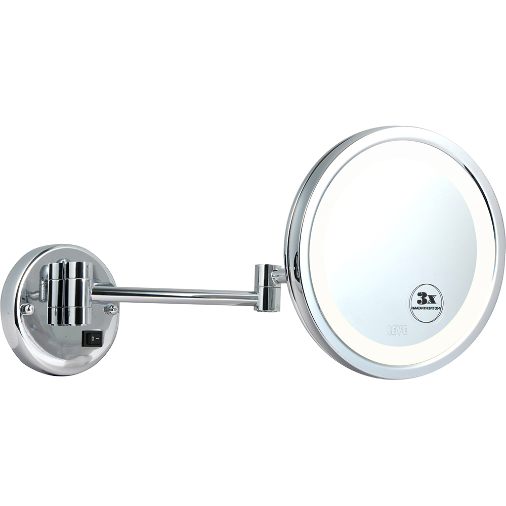Lighted shaving mirror