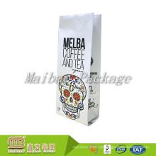 Nehmen Sie das kundenspezifische Logo an, das verschiedene Arten von dauerhaften Plastikseitenfalten-Taschen für das Kaffee / Tee-Verpacken druckt