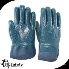 Тяжелая работа, защитная манжета, рабочие перчатки с нитриловым покрытием, масляные нитриловые перчатки