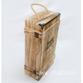 Custom single spot brown wood wine packaging boxes