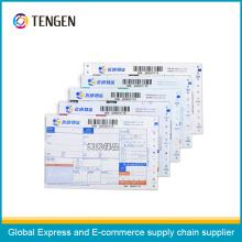 Multi Layers Logistic Courier Air Waybill com impressão variável de código de barras
