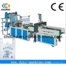 2015 New Gbde-700 Four Line High Speed T-Shirt Bag Making Machine