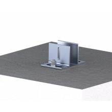 Structure de support de panneau solaire de toit concret réglable de solutions simples