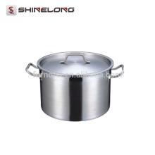 S207 compuesto de acero inoxidable estofado inferior con tapa