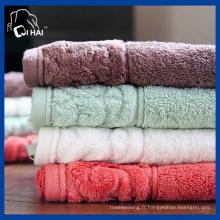 Serviette de bain 100% coton en terry (QHTD553)