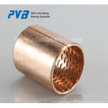 Rodamientos de bronce laminados con bolsillos de lubricación, rodamiento de bronce FB090 Estándar