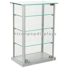 Cerradura de mostrador de cristal superior de juguetes Display de 4 capas de exhibición de joyería Showcase Design