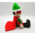 Plush Soft Toy Christmas Elf Super Hero