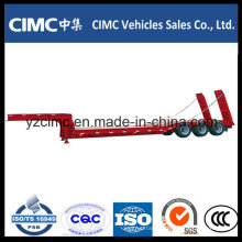 Cimc Factory Tri-Axle 50t Hydraulic Low Bed Trailer