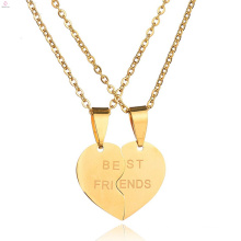 2018 Personalized Statement Custom Jigsaw Stainless Steel Best Friend Necklaces Set