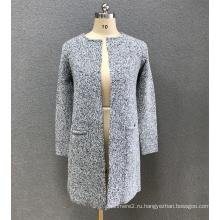 женский серый кардиган свитер