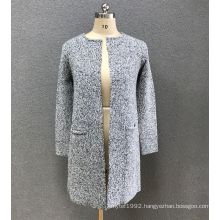 women`s  grey cardigan sweater