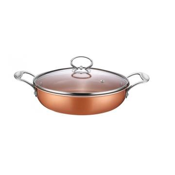 Good Quality for Non-Stick Shallow Casserole Copper Pan Aluminum Non-stick Coating Shallow Casserole supply to Oman Exporter