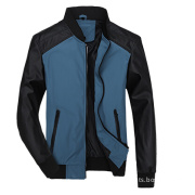 Casual Quilted Fashion Winter Men Leather Outdoor Jacket