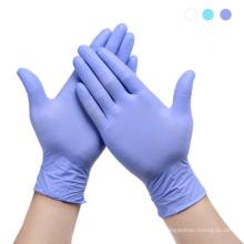 Luvas de nitrilo para exame médico