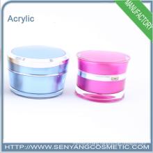 2015 new design packaging cream jars wholesale cosmetic acrylic packaging acrylic cream jar packaging
