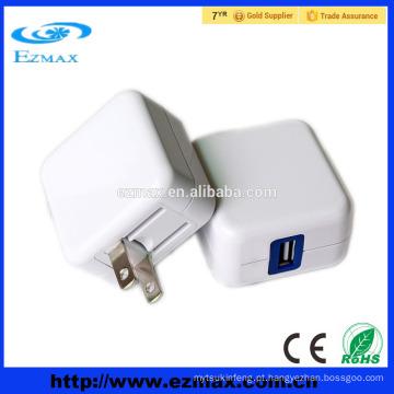 Portable 5v 2.1A usb carregador móvel rápido com dobrável plug EUA