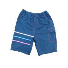 Navy Boy Shorts tecido com offset impresso (SP001)