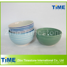 Handpainted Ceramic Stoneware Cereal Bowl