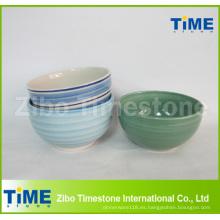 Cuenco de cerámica pintado a mano del gres de cerámica