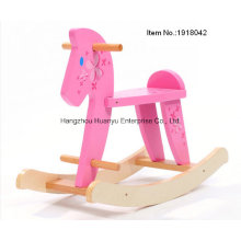 De madera de alta calidad bebé Rocking caballo-madera Rocker con flor
