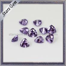 Brillo, amatista, trillante, forma, sintético, piedra, piedra