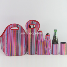 Sac à main Cool Stripe Neoprene Lunch Cooler