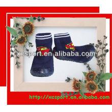 Suela de goma de bebé calcetines de zapatos sudadera de algodón de moda