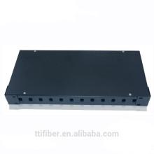 Cuadro de montaje óptico para montaje en bastidor de 12 puertos SC