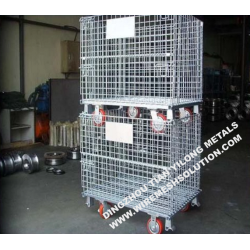 Welded Storage Metal Pallet Cage with Wheel