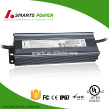 Over 0.95 PFC UL listed 0-10v/pwm 110-277vac to 24vdc 120w low voltage led transformer