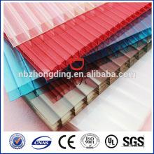 fixation de la feuille de polycarbonate lexan
