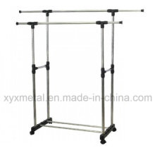 Stainless Steel Double Pole Telescopic Garment Rack