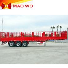 Semi-reboque de carga animal cerca de 60 toneladas com três eixos