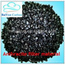 BaiYun material de filtro de antracite para tratamento de água